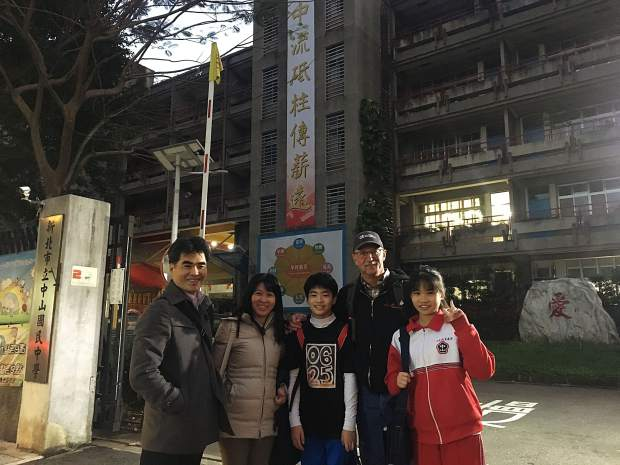 Dillon resident and Copper Mountain Resort winch cat operator Paul Hoagland poses for a photo in Taipei, Taiwan with friends, including
