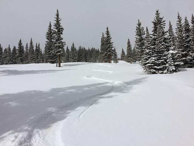 Fresh tracks at Breckenridge on Friday.