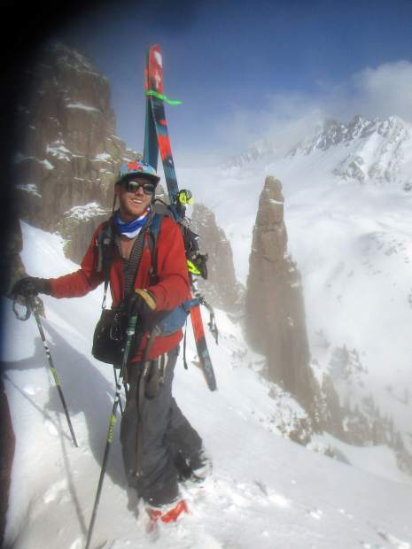Durango's Abel Palmer during a winter excursion. Palmer died earlier this year in an avalanche near Telluride.
