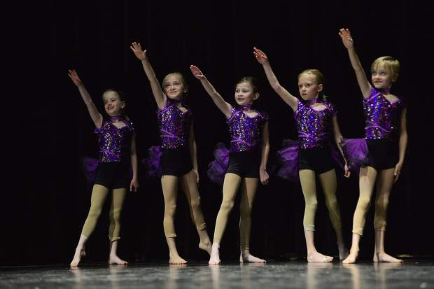 """Students from Summit School of Dance perform Sunday, May 20, during a dress rehearsal at the Riverwalk Center in Breckenridge in a program titled, """"Spring Into Dance."""""""