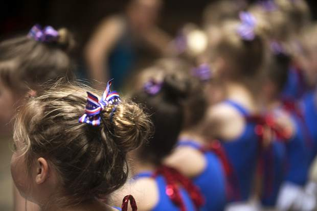Bow-ties for a dance theme during rehearsal for the dance recital Saturday, May 12, at the dance studio in Frisco.
