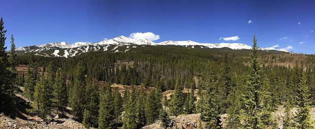 Great view of the resort from Cucumber Gulch, Breckenridge, CO.
