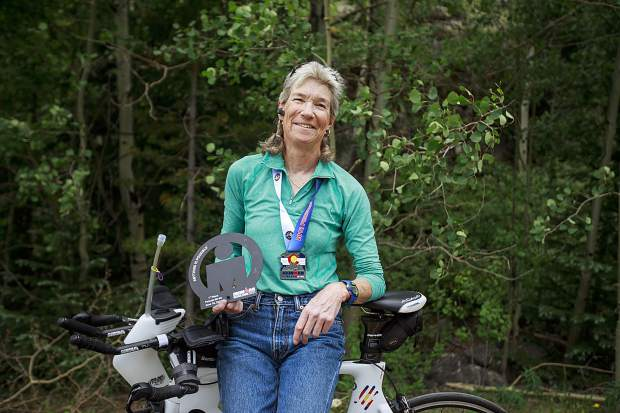 Dillon resident Nancy Peters, 60, who won her age group at the Boulder Ironman past weekend.