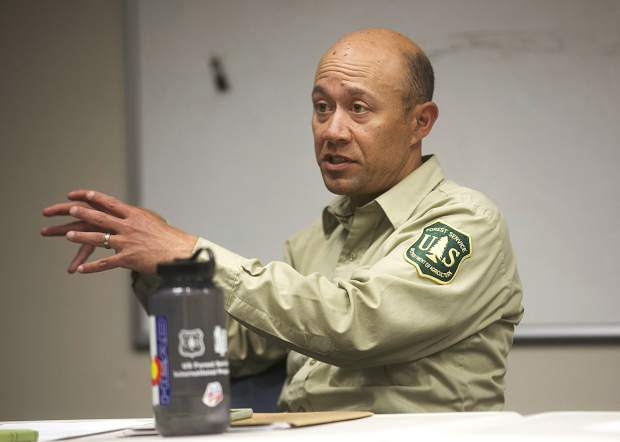 Bill Jackson, the U.S. Forest Service's ranger for the Dillon District, speaks during the wildfire council meeting on Wednesday, June 20 at the Summit County Commons in Frisco.
