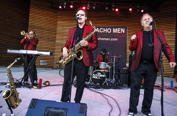 The Nacho Men band performs in the Dillon Concert Series Friday evening, June 29, at the Dillon Amphitheater.