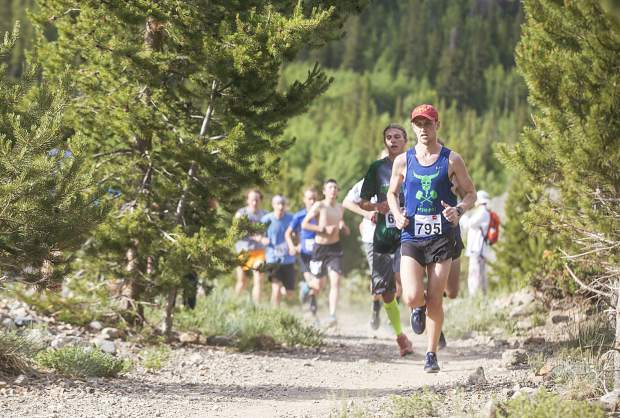 Runners take part of the Summit Trail Running Series, the French Gulch 5K/8K Wednesday, June 27, near Breckenridge.