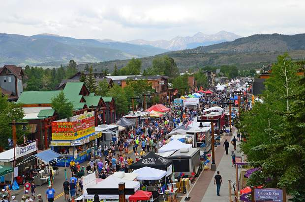 The 25th annual Colorado BBQ Challenge as seen from the belltower at the Frisco Historic Park and Museum on Friday. The event continues today with live music, cooking demonstrations and all the BBQ you can eat.