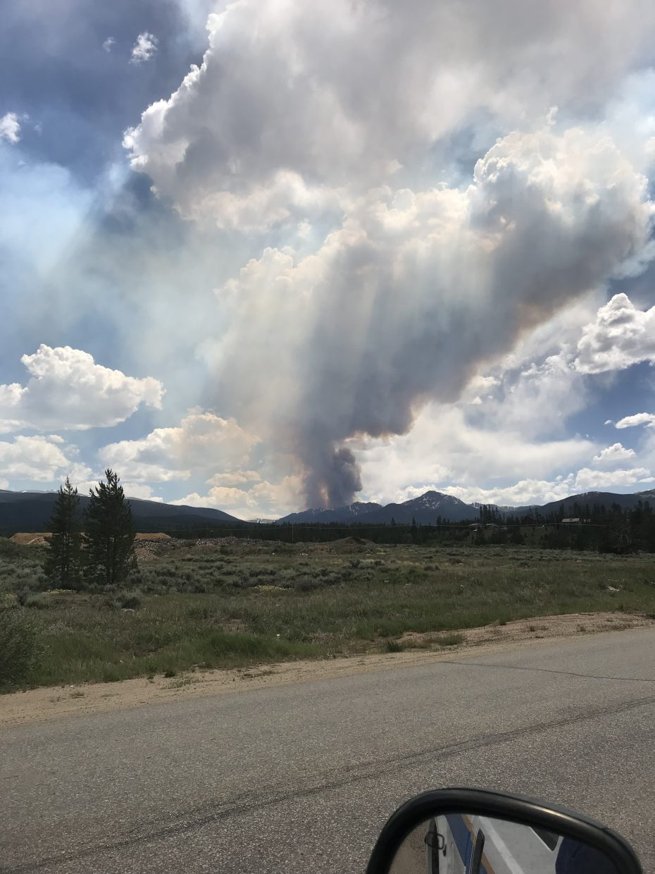 A look at the Sugarloaf Fire from near Fraser on Thursday, June 28.