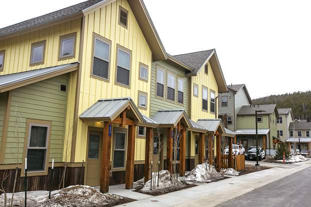 The Blue 52 workforce housing seen on April 16, in Breckenridge.