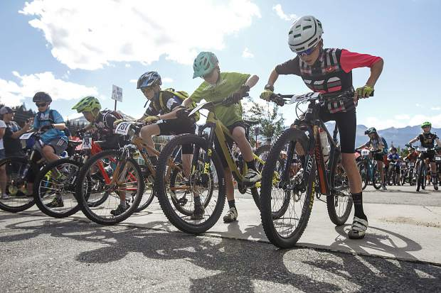 Participants take their mark at the second Summit Mountain Challenge mountain bike race series event of the season, the Gold Run Rush, which tok place Wednesday, June 20 in and around the Wellington neighborhood of Breckenridge.