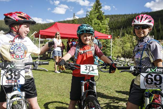 Race participants chat before the second event of this summer's Summit Mountain Challenge mountain bike race series, the Gold Run Rush, which took place Wednesday, June 20 in and around the Wellington neighborhood of Breckenridge.