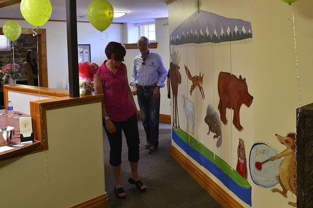 Breckenridge assistant town manager Shannon Haynes, who was the town's police chief before she took her current role, tours the inside of the TreeTop Child Advocacy Center on Wednesday in Breckenridge.