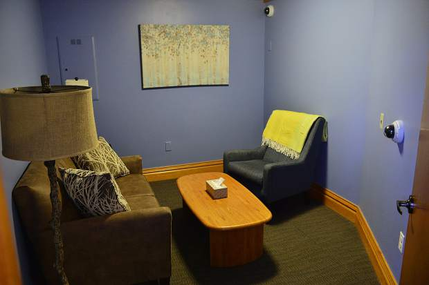 Shown is the interview room at the TreeTop Child Advocacy Center in Breckenridge. The center is a one-stop shop designed to help children who were the victims of abuse or severe trauma not have to relive the horrible experience more than once, and to do it in a comfortable setting.