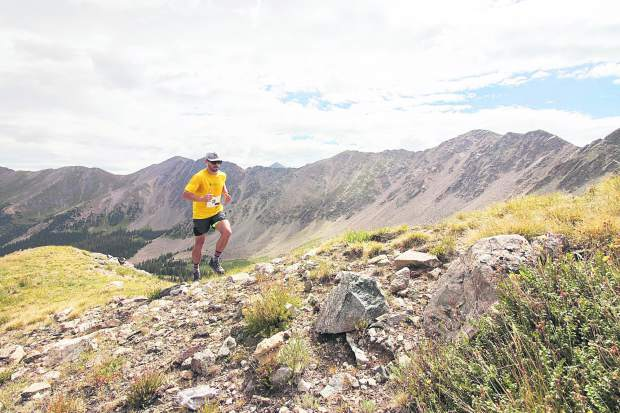 Paul Rodriguez runs up Arapahoe Basin Ski Area during Sunday's second of two summer trail run events.