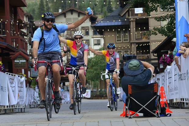 Riders finish the 29th Courage Classic on Sunday, July 23, at Copper Mountain.