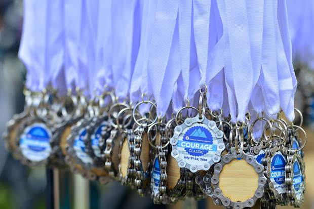 Medals were given out to every participant in the Courage Classic, a two-day bike tour at Copper Mountain in support of Children's Hospital Colorado.
