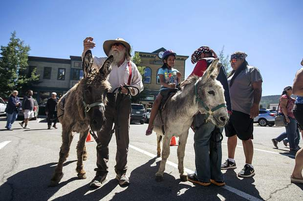 Burro riders and guides in part of the Founder's Day event Sunday, July 1, at the Frisco Historic Park and Museum. The museum celebrated its 35th anniversary over the weekend.