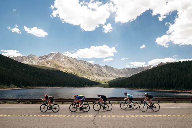 Competitors cycle on the Day 5 route from Avon to Breckenridge on Wednesday as part of the seven-day Mavic Haute Route Rockies event, which featured Breckenridge and Summit County as its