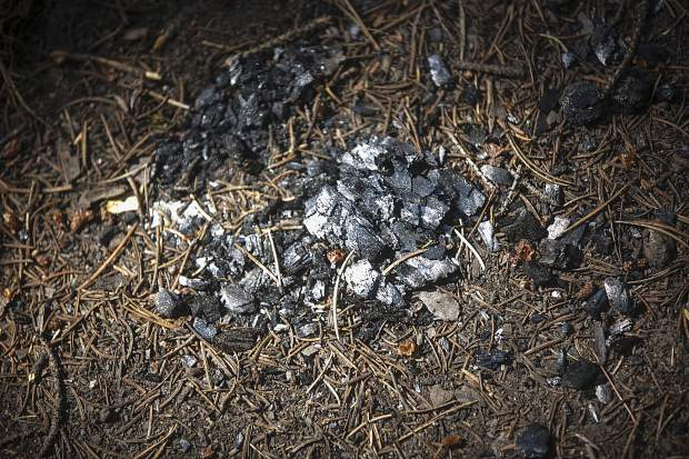 Evidence of an illegal campfire found along Peru Creek Friday, July 6, near Montezuma.