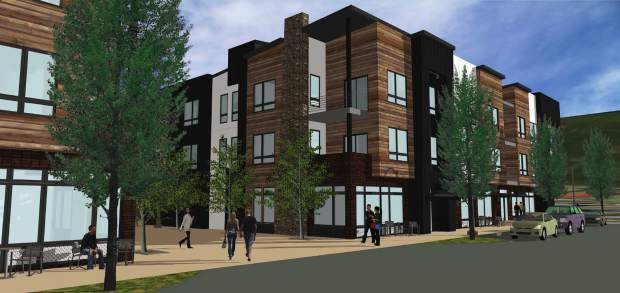 This rendering produced by the firm Milender White shows what Fourth Street Crossing could look like once complete. The project features a mixed-use development that's supposed to transform downtown Silverthorne.