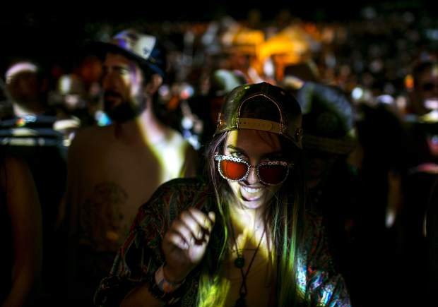 String Cheese Incident fan in the crowds at the Dillon Amphitheater Tuesday night, July 17, in Dillon.