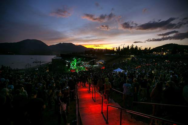 String Cheese Incident perform in front crowds at the Dillon Amphitheater Tuesday night, July 17, in Dillon.