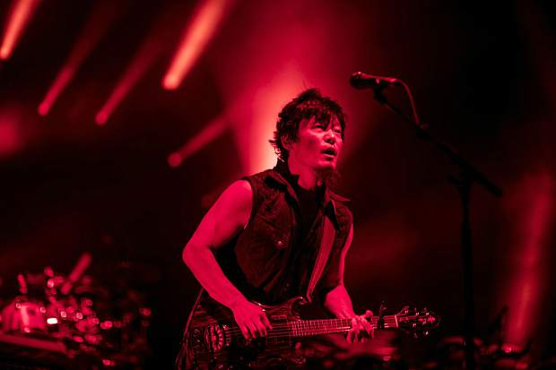 String Cheese Incident band member Michael Kang performs at the Dillon Amphitheater Tuesday night, July 17, in Dillon.