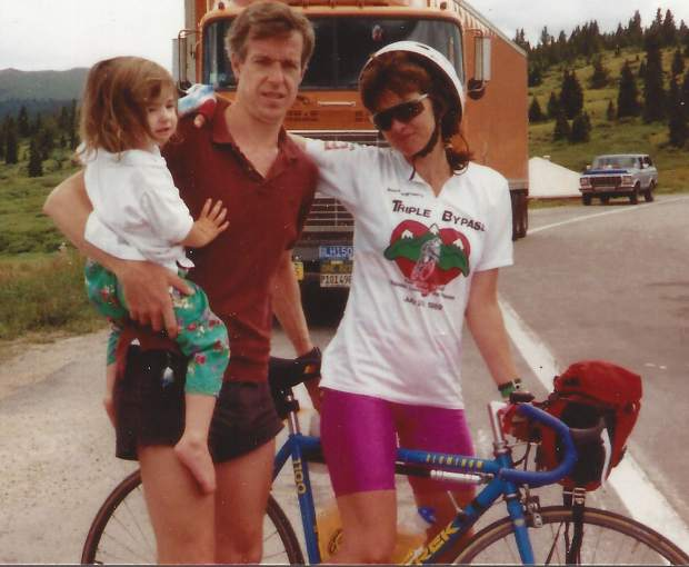 Mike Dern (center) was the man who came up with the idea of the Triple Bypass, an annual 120-mile cycling ride that will take place for the 30th consecutive year on Saturday, beginning in Evergreen and concluding in Avon.