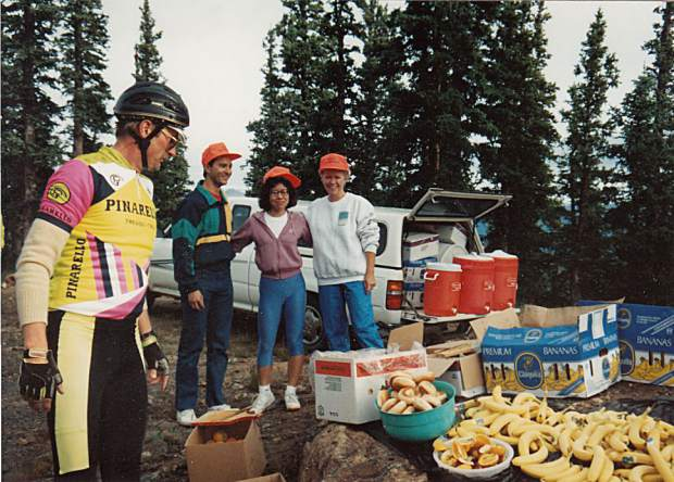 During the early years of the Triple Bypass event, Team Evergreen would ask for donations from the local Evergreen Safeway and bagel shop to help fuel riders on their 120-mile ride from Evergreen to the Vail Valley.