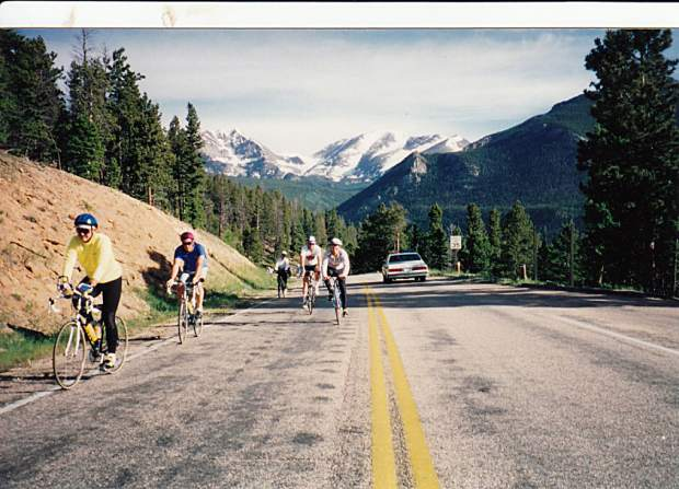 Triple Bypass riders ascend a portion of the 120-mile course during a previous installement of the annual July ride from Evergreen to Avon.