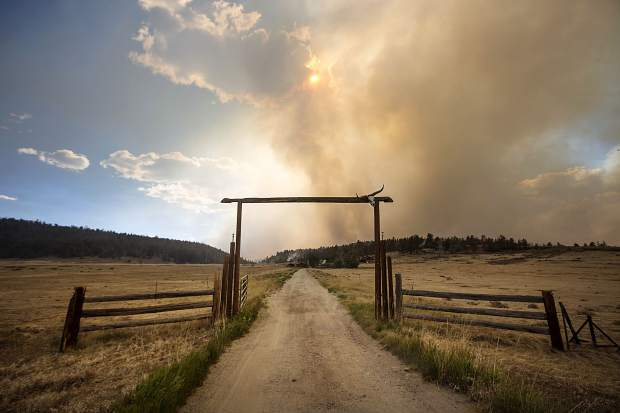 The Weston Pass Fire threatens homes along Highway 285 Monday, July 2, near Fairplay.