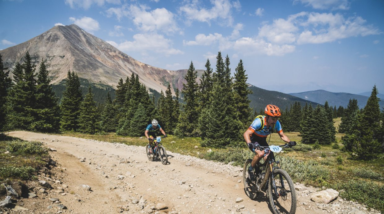 During Tuesday's Day 3 of the 10th annual Breck Epic multi-stage mountain biking event, the climb to the top of Georgia Pass was a grunt up an old 4x4 road.