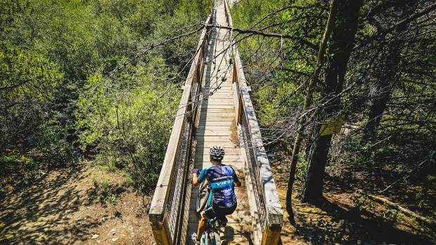 Day 4 of the 10th annual Breck Epic multi-stage mountan biking race on Wednesday required riders to traverse 44 miles and 6,300-feet of elevtion gain via the
