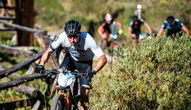 Jeremiah Bishop rides during the sixth stage of the Breck Epic mountain bike race on Friday on his first-place overall finish, his fourth career win at the event.