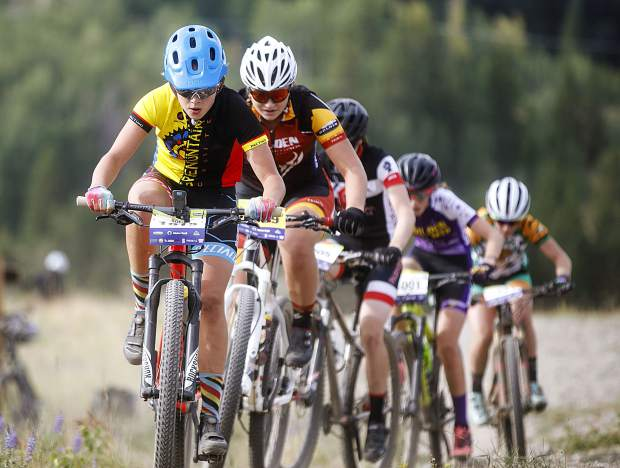 High school mountain bikers compete at the Frisco Bay Invite Saturday, Aug. 25, near the Frisco Adventure Park.