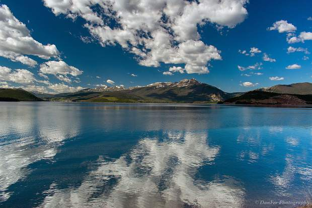 Reflection on Lake Dillon.