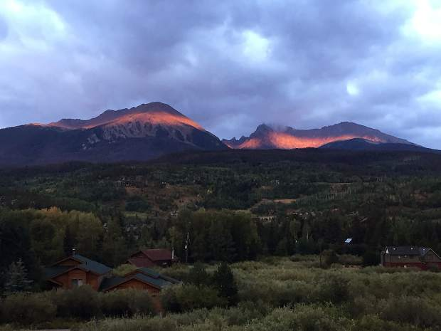 Sunrise on Red Mountain.