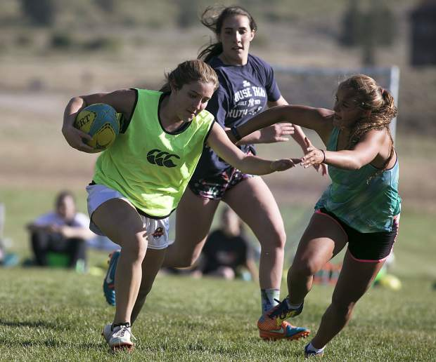 Summit High School rugby players practice at home on Thursday, Aug. 23, in Breckenridge.