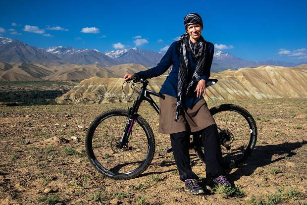 Summit County local Shannon Galpin, seen here with her bicycle in Afghanistan, is the producer behindthe documentary film