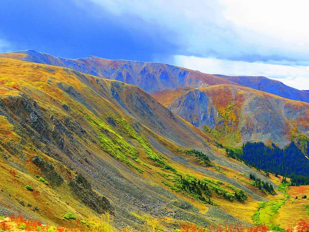 Changing colors above Montezuma on the Sts. John Trail on Saturday.