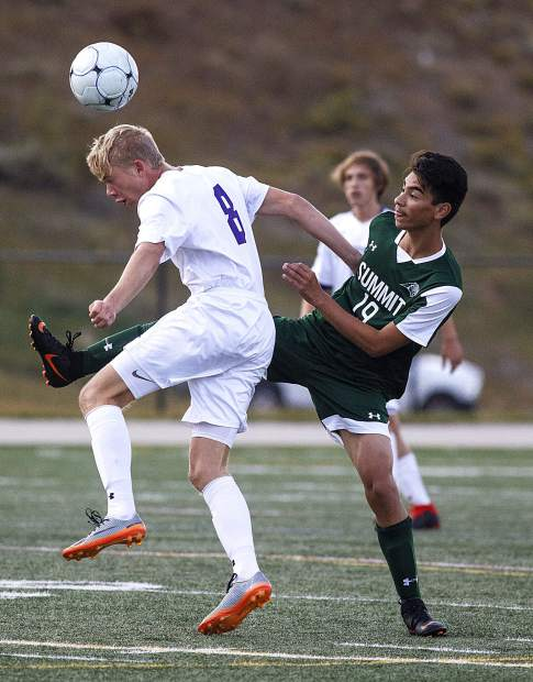 The Summit High School varsity soccer team defeated Salida High School by the score of 2-0 on Thursday at Tiger Stadium in Breckenridge.