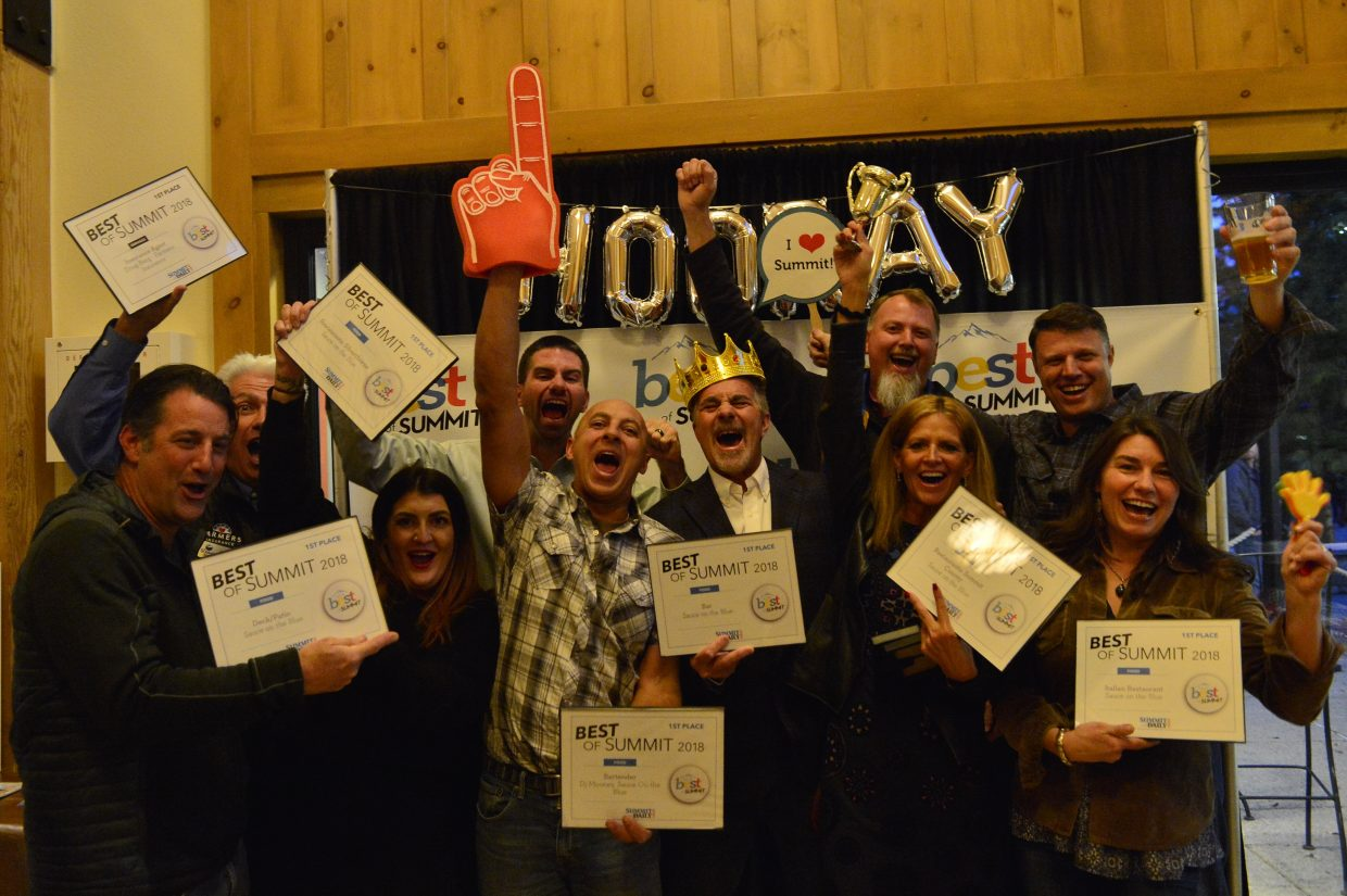 Best of Summit awards ceremony Thursday, Oct. 25, at the Silverthorne Pavilion.