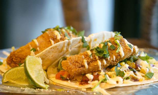 Mahi-Mahi fish tacos at Chimayo Grill Tuesday, Oct. 30, in Dillon.