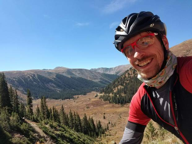 Frisco's Patrick Linfante took this photo at the top of Independence Pass, looking down on the west side, during his 222-mile late September 2-day bike loop from Frisco to Aspen, and back.