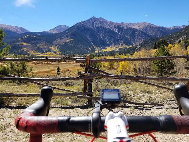 Frisco's Patrick Linfante took this photo of Rinker Peak overlooking Twin Lakes during his 222-mile late September 2-day bike loop from Frisco to Aspen, and back.