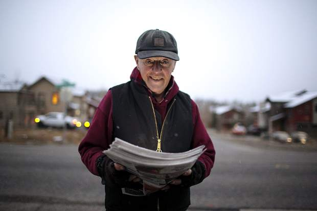 Jack Mathews, 78, started delivering papers for the Summit Daily News in 1997.