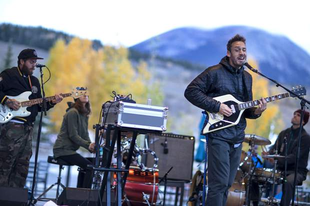 Easy Giant's Chris Emmington, who is also a snowboarder in the Absinthe Film's Stay Tuned, and the band perform on the Silverthorne Performing Arts Center lawn Friday, Oct. 5, in part of First Friday Artists Celebration in town.