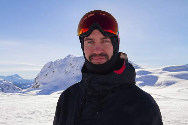 Former Canadian national ski team developmental coach Mike Shaw poses for a photo while heli-skiing at Whistler Blackcomb. Just a few years prior, Shaw thought he'd never walk, nevermind ski, again after an skiing accident at Keystone Resort resulted in a broken neck.