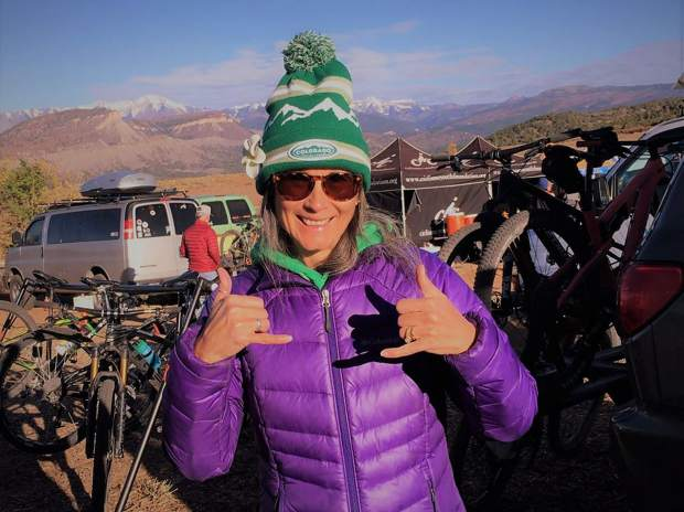 Summit Tigers high school-aged mountain bike team coach Marla Dyer-Biggin was awarded the Colorado High School Cycling League's Coach of the Year Award in the wake of her Tigers' fourth-place Division 1 finish at last weekend's state championship event in Durango.
