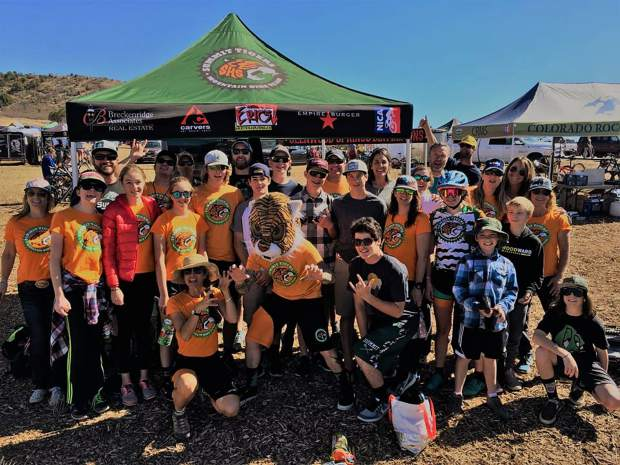 The Summit Tigers high school-aged mountain bike team poses for a team photo last weekend at the state championship race at the Durango Mesa. Summit took fourth-place of the 11 teams who competed in the Division 1 competition.